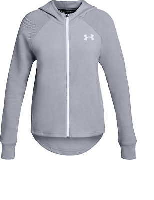 Bnwt - Girls Under Armour Hooded Track Top - Size Ylg - 9 - 10 Years - Free P&P