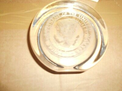 Vice President United States  Crystal Wedge Paperweight