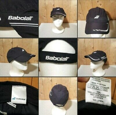 *Used* Lovely Black Sports Cap▪BABOLAT▪Junior Size~Summer Hat~Outdoor~Some Marks
