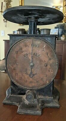 US Scale Patent 1877 Cast Iron & Brass Country Store 19th Century
