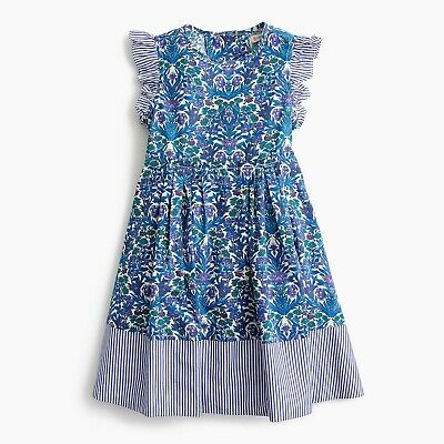 j crew nwt crewcuts G1449 Girls' Ruffle-Sleeve Dress in Liberty Floral 16