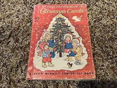 Vintage My First Picture Book Of Christmas Carols, 1979 Rand McNally Junior Elf