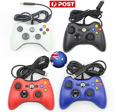 AUS XBOX 360 Wired Game Controller Gamepad Fr Microsoft XBOX 360 Console Windows