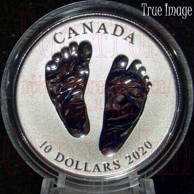 Born in 2020 Welcome to the World - Baby Feet - $10 Pure Silver Coin in Gift Box
