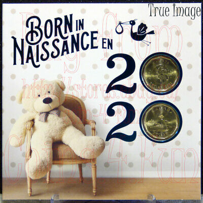 Born in 2020 Baby Gift 6-coin Set - $2,specially struck $1,$1,25c,10c,5c Canada