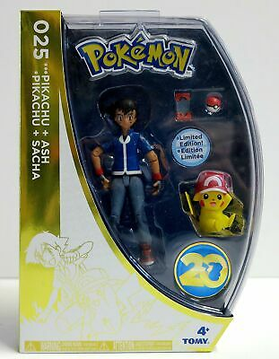 Tomy Pokemon 20th Anniversary Pikachu & Ash Limited Edition Action Figure