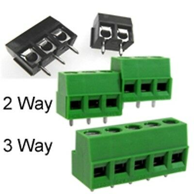 PCB TERMINAL BLOCK 2 & 3 WAY PCB MOUNTING 5mm PITCH INTERLOCKING PACK OF 10