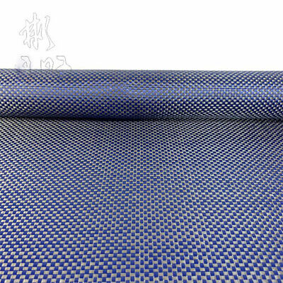 200gsm Plain Weave Blue Aramid Carbon Fiber Blended mixed Carbon cloth 50*100cm