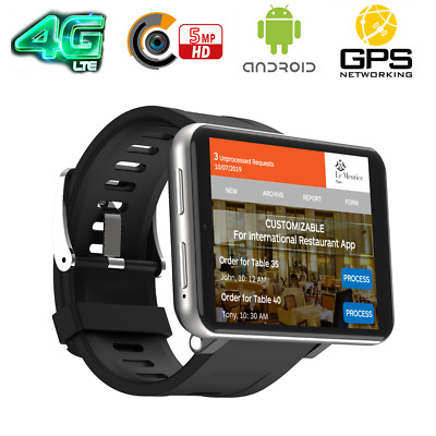 2.86 Inch 4G Smart Watch Phone Android 7.1 5MP Camera 16GB/32GB For Android iOS