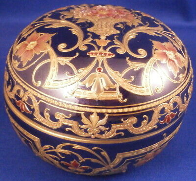 Antique Amazing Art Nouveau KPM Berlin Porcelain Jewelled Box Porzellan Dose