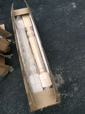 """New In Box - Box Of 4 Hard Maple Newel Staircase Posts - 34 3/4"""" By 2 3/4"""""""