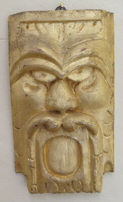 Frieze Golden Bas-Relief Mask Element Decorative Style Baroque GF1