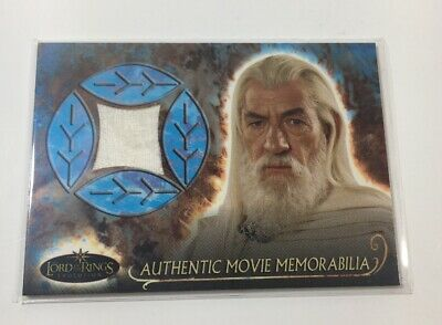 Lord Of The Rings Movie Memorabilia Relic Card Gandalf's Shirt Topps