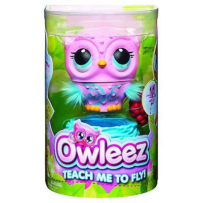 Owleez Flying Baby Owl Interactive Pet Toy Drone For Kids Aged 6 And Up, Pink