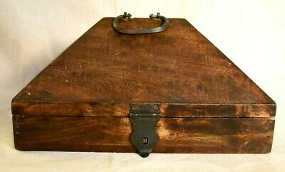 Antique Dowry Chest/Box of Solid Wood With Wrought Iron Fittings