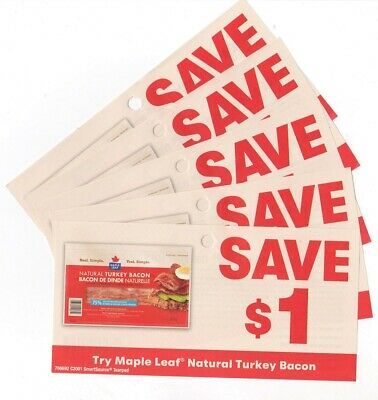 14 x Save $1.00 on Maple Leaf Turkey Bacon Coupons (Canada)