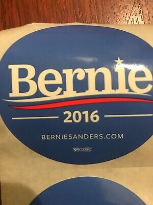"2 Authentic Official  2016 Bernie Sanders 3"" Round Stickers"