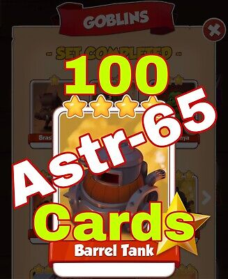 Coin Master :-) 100x Barrel Tank Card. Fast Delivery
