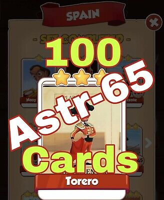 Coin Master :-) 100x Torero Card. Fast Delivery