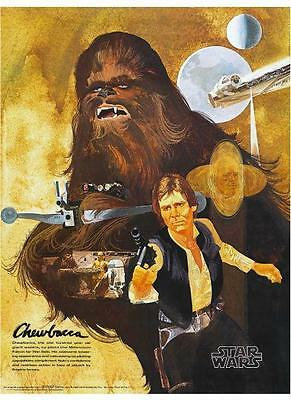 Star Wars  POSTER  2 of 4 Set Sci-Fi Art Burger Chef Harrison Ford George Lucas