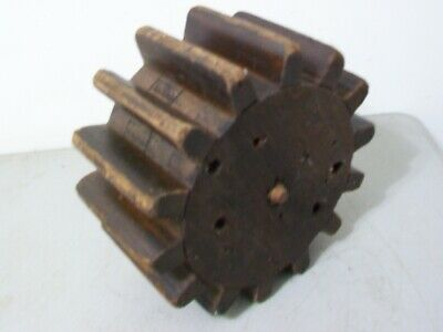 Antique Vintage Machinery Wood Foundry pattern Gear Cog Mold