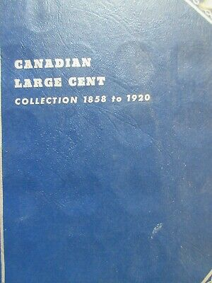 Set of Canada Large Cents Coin (1859 - 1920) - 26 Coins in WHITMAN Book (SC59)