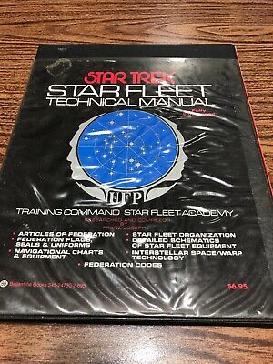 STAR TREK Original 1975 STAR FLEET TECHNICAL MANUAL book 1st ed. illustrated