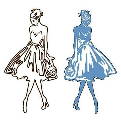 Catwalk Girl Metal Cutting Dies Stencil Scrapbooking DIY Album Paper Card New