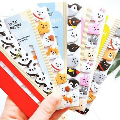 320 Pages Cute Animal Sticker Post Bookmark Marker Memo Index Tab Sticky