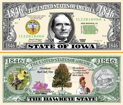 classic State of California Dollar Bill Fake Funny Money Note with FREE SLEEVE