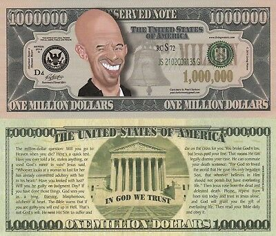 Karma Yin~Yang Million Dollar Bill Fake Funny Money Novelty Note FREE SLEEVE