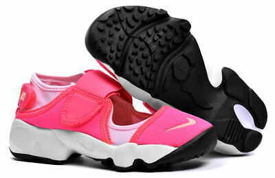Young Girls Nike Air Rift (GS/PS Girls) Trainers Shoes Pink Black 314149 601