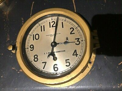 Chelsea Clock Co. US Maritime Commission Naval Clock