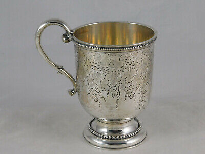 Antique Boston Coin Silver Footed Cup Bigelow Bros & Kennard 1845