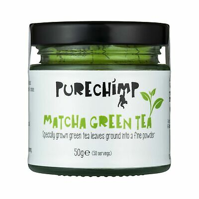 Matcha Green Tea Powder (Super Tea) 50g by PureChimp | Ceremonial Grade from ...