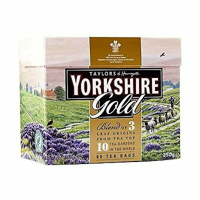 Yorkshire Gold Tea, 80 Tea Bags (Pack of 5, total 400 teabags)