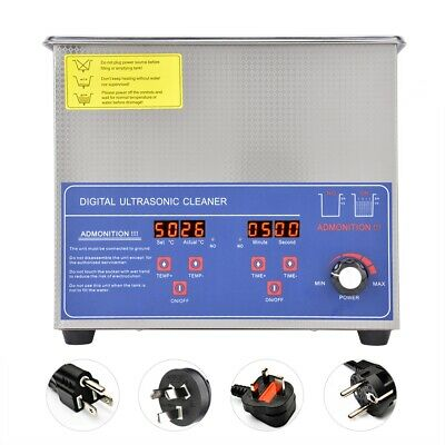 3L Digital Ultrasonic Cleaner Temperature Adjustable Lab Cleaning Tool 40KHz