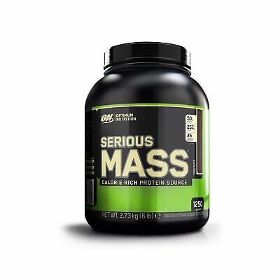 Optimum Nutrition Serious Mass Protein Powder High Calorie Mass Gainer with V...