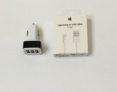 3-Port USB Fast Quick CAR Charger Adapters For All Cell Phone With A USB Charger