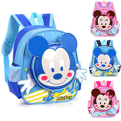 Personalised Kids Backpack Mouse Rose Gold Girls Back To School Bag Toddler MM