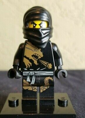 Lego Ninjago Minifigure body Torso Cole BLACK NINJA DX Minifig Part 2509 2520