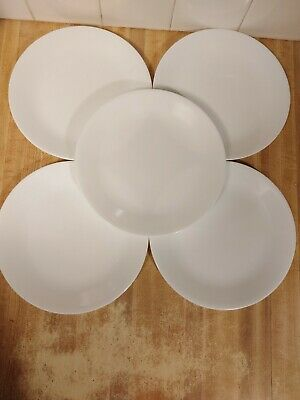Corelle WINTER FROST WHITE Luncheon Plate 8 1/2 Inch Set of 5