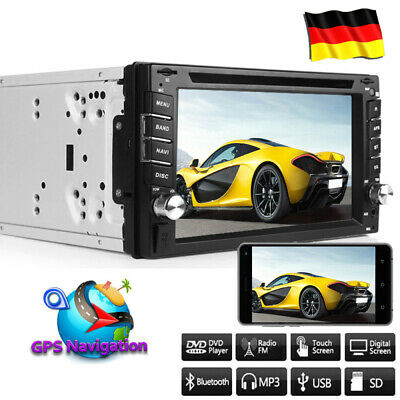 Autoradio Mit Gps Navigation Navi Bluetooth Touchscreen Dvd Cd Usb Doppel 2 Din