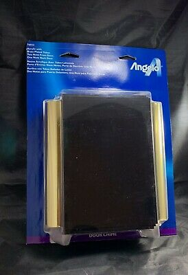 ✅ NEW Angelo Two Note Wired Electric Door Bell Chime, Acrylic/ Brass Plate Tubes