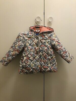Baby girls Floral Winter-Spring Padded coat 9-12 months M&S in good condition!