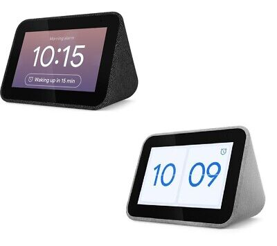 Lenovo Smart Clock With Google Assistant Grey & Black