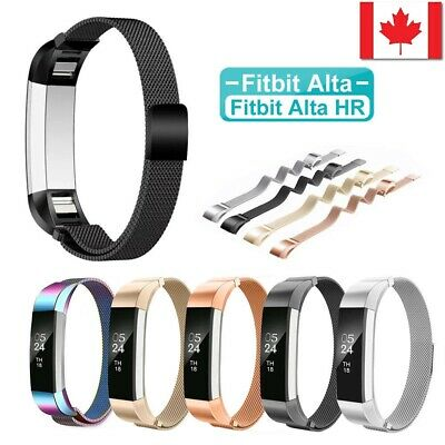 Stainless Steel Replacement Metal Wrist Band Strap For Fitbit Alta / Alta HR CA