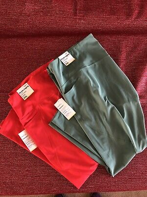 Old Navy Women's High-Waist Elevate Compression Leggings-2 PAIR-Mint/Pink NWT