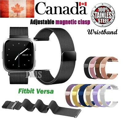 NEW Replacement Stainless steel Metal Strap Band For Fitbit Versa/Lite Sports CA