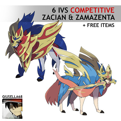 Pokémon Sword & Shield - ZACIAN & ZAMAZENTA (6 IVS COMPETITIVE) PACK